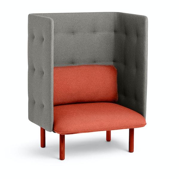Brick + Gray QT Privacy Lounge Chair,Brick,hi-res