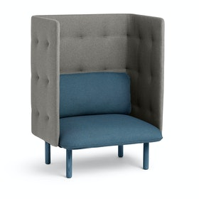 Dark Blue + Gray QT Privacy Lounge Chair,Dark Blue,hi-res