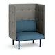 Dark Blue + Gray QT Privacy Lounge Chair,Dark Blue,hi-res