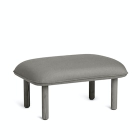 Gray QT Privacy Lounge Ottoman,Gray,hi-res