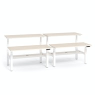 Series L Adjustable Height Double Desk for 4, White Legs,,hi-res