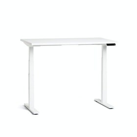 "Loft Adjustable Height Standing Single Desk, White, 47"", White Legs,White,hi-res"