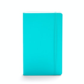 Aqua Medium Soft Cover Notebook,Aqua,hi-res