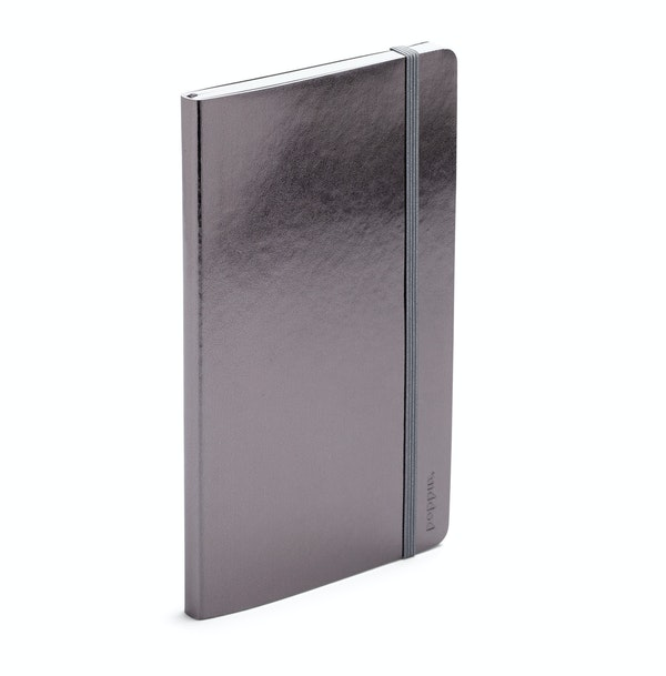 Gunmetal Medium Soft Cover Notebook,Gunmetal,hi-res
