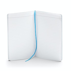 Custom Pool Blue Medium Soft Cover Notebook,Pool Blue,hi-res
