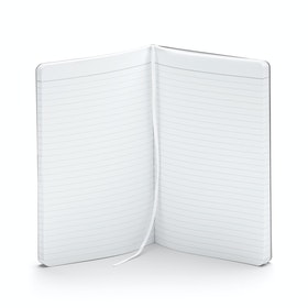 Custom White Medium Soft Cover Notebook,White,hi-res