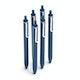 Navy Retractable Gel Luxe Pens w/ Blue Ink, Set of 6,Navy,hi-res