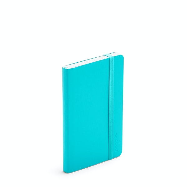 Aqua Small Soft Cover Notebook,Aqua,hi-res
