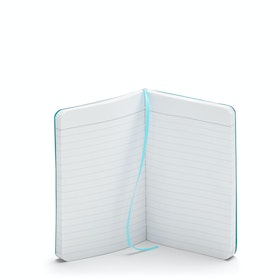 Custom Aqua Small Soft Cover Notebook,Aqua,hi-res