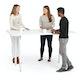 "Series A Standing Meeting Table, White, 72x36"", White Legs,White,hi-res"