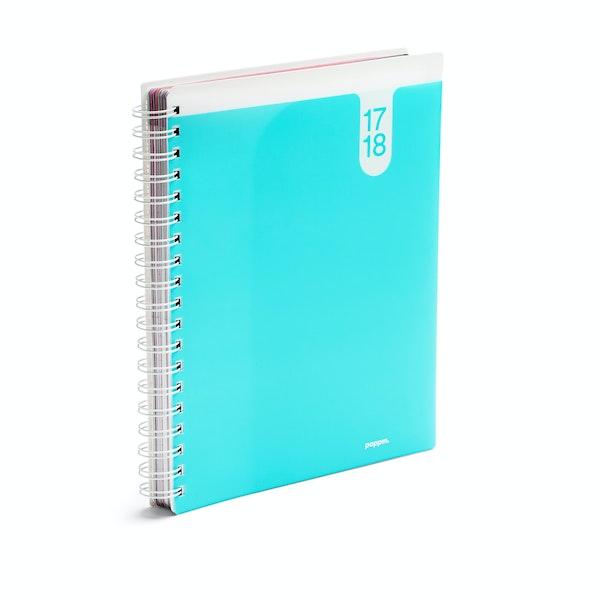 Aqua Large 18 Month Pocket Book Planner, 2017-2018,Aqua,hi-res