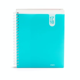 Aqua Large 18 Month Pocket Book Planner, 2017-2018,Aqua,hi-res