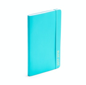 Aqua Medium 18-Month Soft Cover Planner, 2017-2018 ,Aqua,hi-res