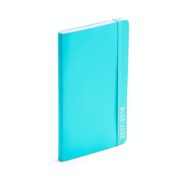 Aqua Medium 18-Month Soft Cover Planner, 2017-2018 ,Aqua,hi-res