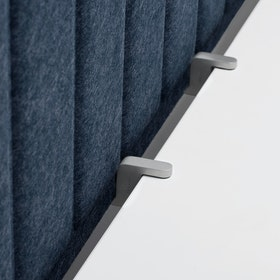 "Dark Blue Privacy Panel, 57"" + Edge Clips,Dark Blue,hi-res"