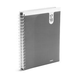 Dark Gray Large 18 Month Pocket Book Planner, 2017-2018,Dark Gray,hi-res