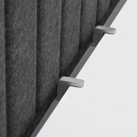 """Dark Gray Privacy Panel, 57"""" + Edge Clips,Dark Gray,hi-res"""