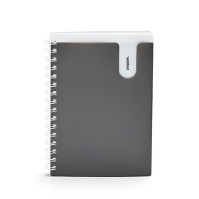 Dark Gray Medium Pocket Spiral Notebook,Dark Gray,hi-res