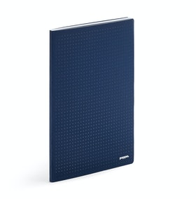 Navy Double Booked Dot Grid Notebook Refill,Navy,hi-res