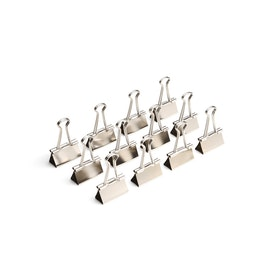 "Silver Medium 1.25"" Binder Clips, Box of 12,Silver,hi-res"