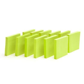 Neon Green Mobile Memos, Set of 12,Lime Green,hi-res