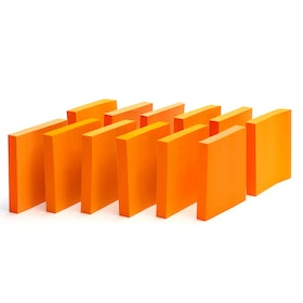 Neon Orange Mobile Memos, Set of 12,Orange,hi-res