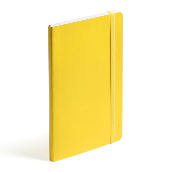 Yellow Medium Soft Cover Notebook,Yellow,hi-res