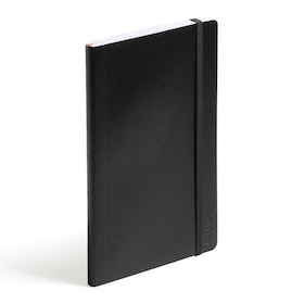 Black Medium Soft Cover Notebook,Black,hi-res