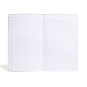Silver Medium Soft Cover Notebook,Silver,hi-res