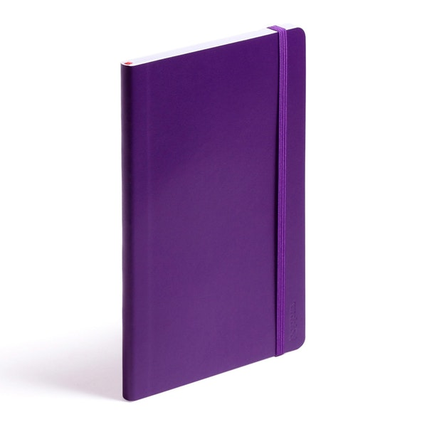 Purple Medium Soft Cover Notebook,Purple,hi-res