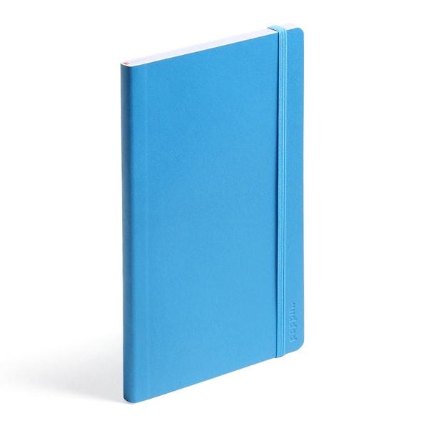 Pool Blue Medium Soft Cover Notebook,Pool Blue,hi-res