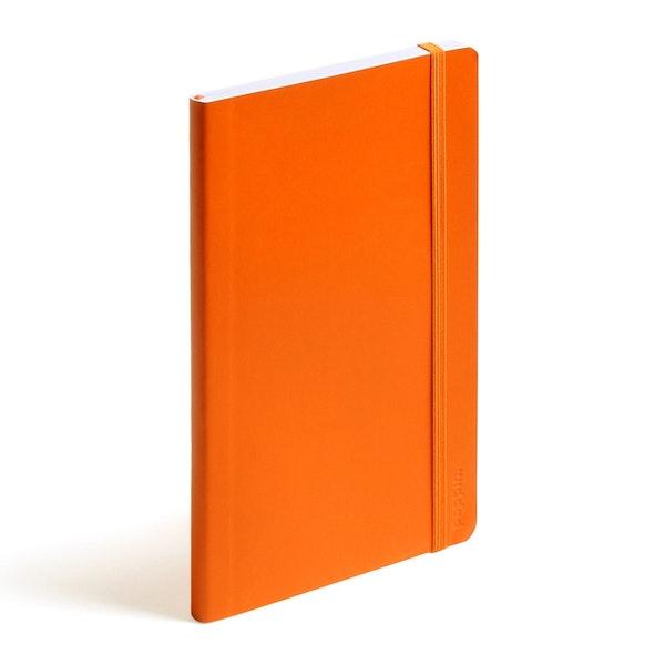 Orange Medium Soft Cover Notebook,Orange,hi-res