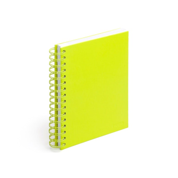 Lime Green Medium Spiral Notebook,Lime Green,hi-res
