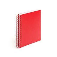 Red Medium Spiral Notebook,Red,hi-res