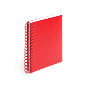 Red Medium Spiral Notebook,Red,hi-res