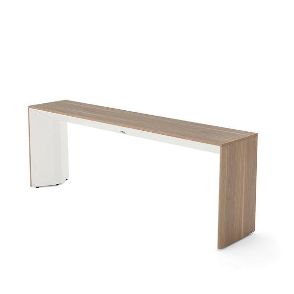 Slim Table, Virginia Walnut, White Frame,Virginia Walnut,hi-res