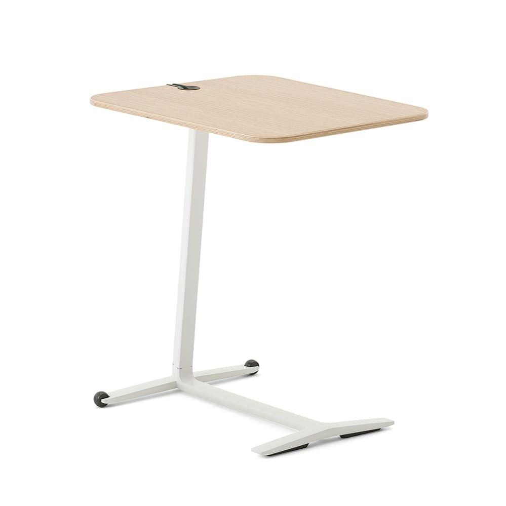 Skate Table, Warm Oak, White Frame  Modern Office Furniture   Poppin