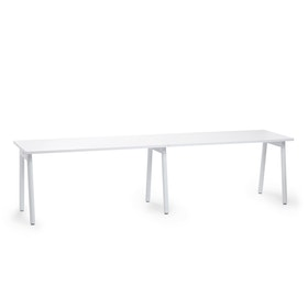 "Series A Single Desk for 2, White, 57"", White Legs,White,hi-res"