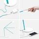 Aqua Limber LED Task Lamp,Aqua,hi-res