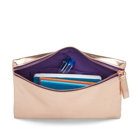 Copper + Purple Slim Accessory Pouch,Copper,hi-res