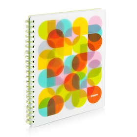 Lime Kaleidoscope 1-Subject Spiral Notebook,Lime Green,hi-res
