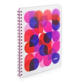 Pink Kaleidoscope 1-Subject Spiral Notebook,Pink,hi-res