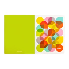 Lime Green Kaleidoscope Poly Pocket Folders,Lime Green,hi-res