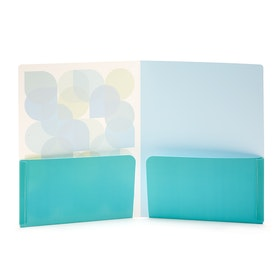 Pool Blue Kaleidoscope Poly Pocket Folder,Pool Blue,hi-res