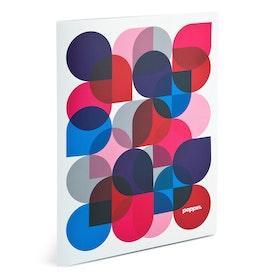 Purple Kaleidoscope Poly Pocket Folders,Purple,hi-res