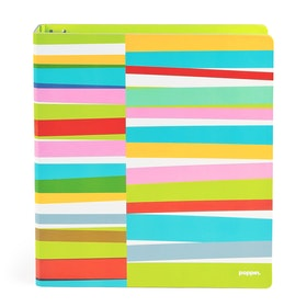 "1"" Lime Green Streamer Binder,Lime Green,hi-res"