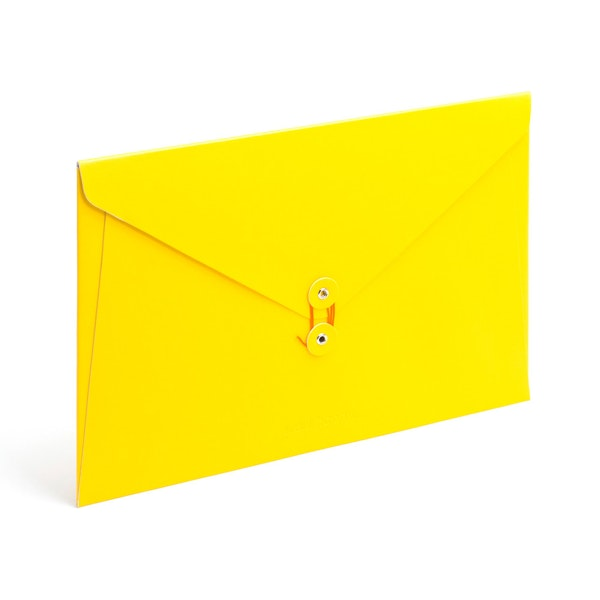 Yellow Soft Cover Folio,Yellow,hi-res