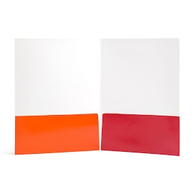Sunset Paper Pocket Folder, Set of 6,Orange,hi-res