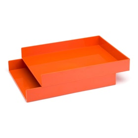 Orange Letter Trays, Set of 2,Orange,hi-res