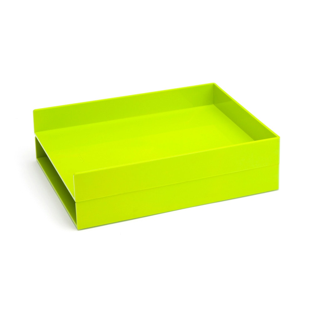 Lovely Lime Green Letter Trays, Set Of 2,Lime Green,hi Res ...